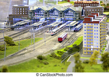 Model of railway station