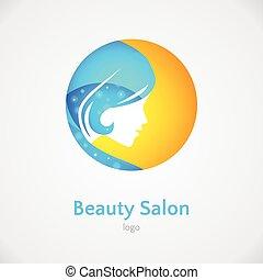 Woman vector logo design template
