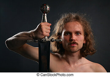 Man with sword