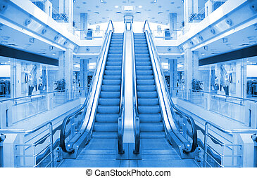 escalator in trade center