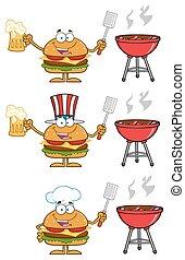 Hamburger Characters 5. Collection