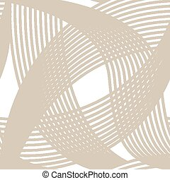 Crossing lines seamless pattern on white background. Vector...