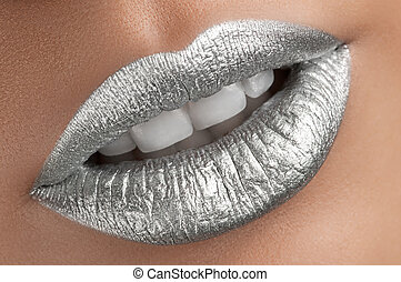 Beautiful silver lips - bright rich saturated colorful nice...