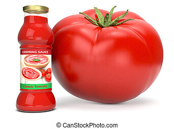 tomato sauce - one bottle of tomato sauce with a giant...