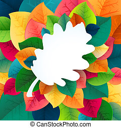 Autumn abstract fall leaves vector background