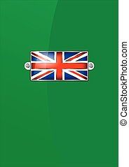 Enamel British Union Jack Flag - Ba