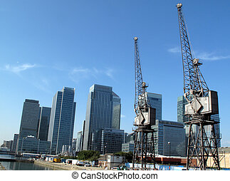 London Docklands - Canary Wharf in Docklands is the largest...