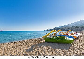 Majorca Cala Mesquida beach in Mallorca Balearic Islands of...