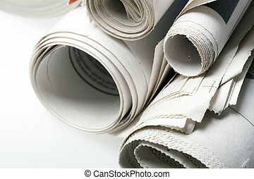 close up view photo of the newspapers