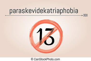 paraskevidekatriaphobia - fear of friday the 13th...