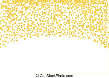falling gold confetti - falling oval confetti with gold...