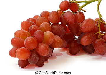 Red Grapes - This is a close-up of red grapes isolated on...