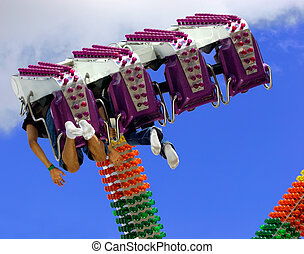Amusement Ride - View from under a ride at the amusement...
