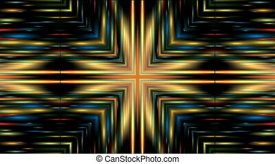 colored lines - Symmetric bright colored lines move and...
