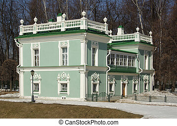 Kuskovo estate of the Sheremetev family in Moscow, Russia -...