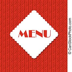 Restaurant Menu Template Vector Illustration EPS10
