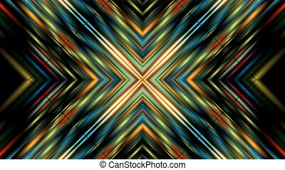 colored lines - Symmetric bright colored lines move around...