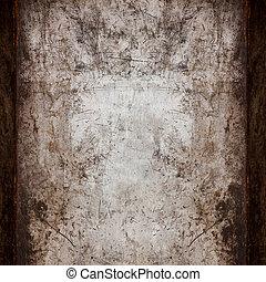 rusty steel background or vintage metal texture