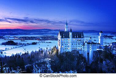 Neuschwanstein Castle in Germany - Neuschwanstein Castle...