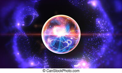 Energy sphere - Abstract background with energy sphere and...
