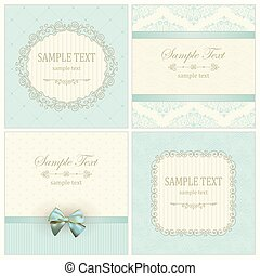 Invitation cards with pattern - Vintage Invitation Cards...