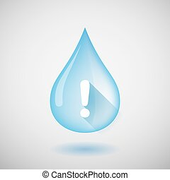 Water drop with an exclamation sign