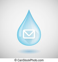 Water drop with an envelope