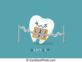 Braces tooth - braces tooth