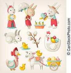 húsvét, állatok