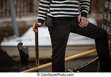 gondolier - Striped shirt and black pants of a gondolier
