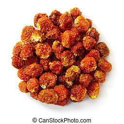 Cape gooseberries - Circle of dried Cape gooseberries...