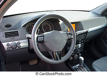 Drivers seat of the modern car