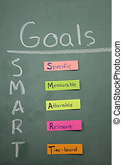 Colorful Smart Goals - Smart Goals specific, measurable,...