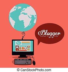 blogger, 設計