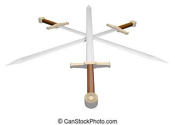 Medieval war swords - Creative design of Medieval war swords