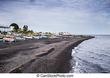Stromboli beach, aeolian islands Sicily
