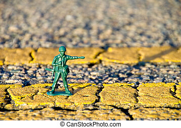 Toy MP Directing Traffic - Shallow Depth of Field