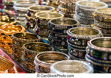 Indian Bracelets - Traditional Indian bangles with different...
