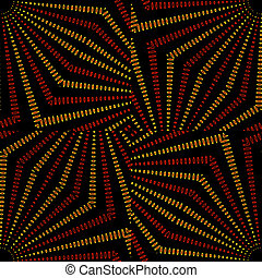 Tribal Geometric Vintage Pattern - Tribal or ethnic digital...