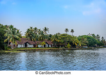 Tropical Indian village in Kerala, India - Tropical Indian...