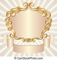 background - vintage background with decorative frame
