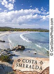 Beautiful ocean coastline in Costa Smeralda, Sardinia, Italy...