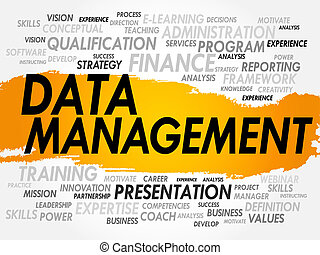 Data Management - Word cloud of Data Management related...