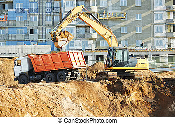 wheel loader excavator and tipper dumper - wheel loader and...