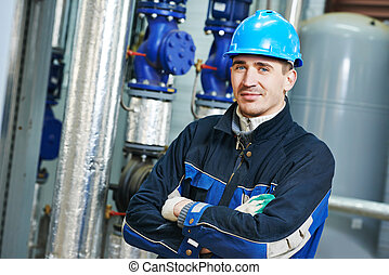 industrial boiler worker