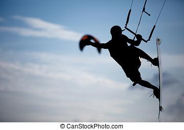 Kitesurfing - various kitesurfing action photos