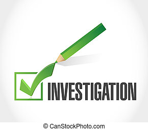 investigation check mark sign concept illustration design...