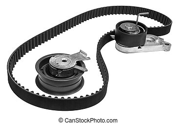 belt and rollers - set the timing of the engine of the car...