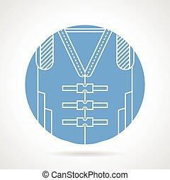 Blue vector icon for life jacket - Circle blue vector icon...