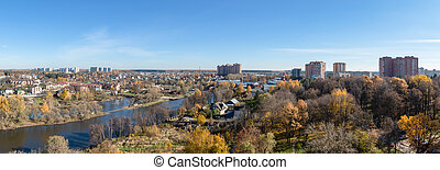 Troitsk City, Moscow District, birds eye view - Birds eye...